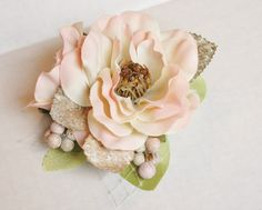Your place to buy and sell all things handmade Flower Petals, Silk Flowers, Pink Champagne Wedding, Bridal Hair Flowers, Handfasting, Flower Hair Clips, Bridal Hair Accessories, Shades Of Green, Blush Pink