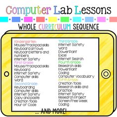 Computer Lab Lessons. Entire year curriculum, lesson plans, and activities for technology teachers and classroom teachers.