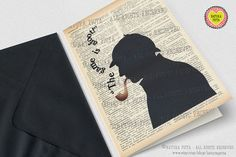 The Game is afoot Sherlock Holmes Greeting Card - 4x6 inches - Invitation card- Stationery card-design by NATURA PICTA NPGC020