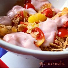 Everyday is a new adventure!  每天,都是新的體驗!  #yogurt, #cereal, #fruit, #breakfast, cooking, #homemade, #igpic, #igdaily, #igfood, #igpost, #instalike, #instagood, #instapic, #instadaily, #instafood, #food, #foodie, #foodporn, #foodstagram, #hkig, #nom, #yummy, #早午餐,#早餐, #相機食先, #自家, #好吃, #健康、#美味しい、#手作ぃ、#料理, #日常, #朝食