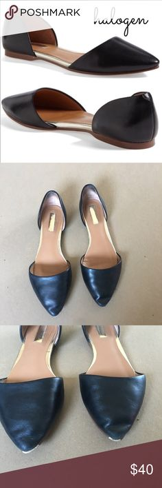 Halogen D'orsay Flats Good used condition. Some scuffing around point as pictured. Halogen Shoes Flats & Loafers