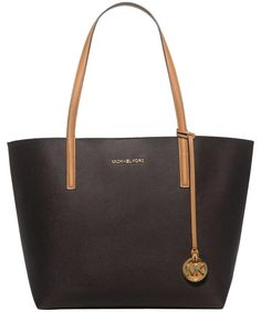 Michael Kors Hayley Brown Tote Bag. Get one of the hottest styles of the  season. Tradesy b0951aa3dbb61
