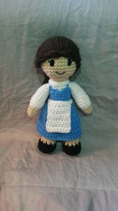 Belle from Beauty and the Beast Crochet Doll