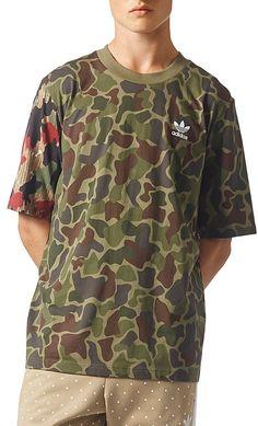 adidas Camouflage Boxy Short Sleeve Tee