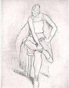 Seated woman (Olga), 1920 - Pablo Picasso