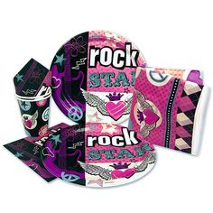 PARTY ROCK ! Kit Goûter Malin - Rock Star Girl   Anniversaire enfant   Scrapmalin