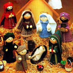 DIGITAL DOWNLOAD PDF Vintage Knitting Pattern Christmas Nativity
