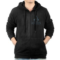 Mens Assassins Creed Logo Gameart ZipUp Hoodie Sweatshirt >>> Learn more by visiting the image link.