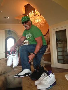 "Hulk-Hogan wearig Jordans? never thought i would see the day, ""brotha""!"