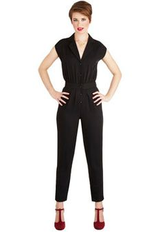 Annabelle's Caught Your Eye Jumpsuit, #ModCloth- Gosh darn it, I want this...