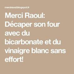 Merci Raoul: Décaper son four avec du bicarbonate et du vinaigre blanc sans effort!