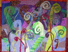 unfurling art quilt Lorie McCown