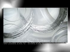"""JEAN SANDERS  """"SCHNEESTURM""""  150 x 80 cm  Material:  Acrylfarben, Schlussfirnis, Spachtelmasse"""
