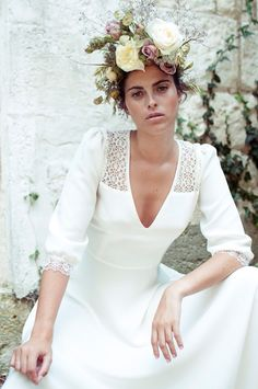 Simple Boho Louise Elise Hameau 2015 Wedding Dress | www.onefabday.com