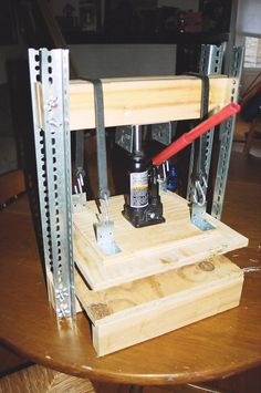 DIY Bottle Jack Press
