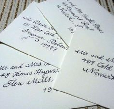 """My """"fancy script"""" writing style, written with a traditional calligraphy pen.  www.calligraphybycarrie.com"""