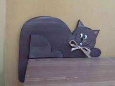 kočička hnědá - rohová levá nebo prává barva také na přání 24cm