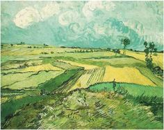 Van Gogh Wheat-Fields-at-Auvers-Under-Clouded-Sky July 1890