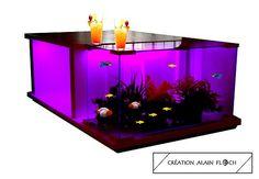 table basse oceane aquarium 20 led sans fil table basse aquarium terrarium vivarium design. Black Bedroom Furniture Sets. Home Design Ideas