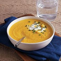 Butternut Squash-Parsnip Soup  This soup is simple, savory and extremely soothing on a cold winter night. To serve twelve to sixteen, make two batches of soup instead of doubling the recipe.
