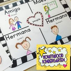 Looking to spice up your classroom with a little Espanol?  This 11 page packet is designed with Kindergarten, 1st, or 2nd graders in mind.  Click here to see how this project turned out in my classroom!  Adorable!ALL THE INTERESTING DETAILS*****************************************************************************It includes a cute rainbow coloring page about colors, a connect the words/numbers page about numbers 1-5 and 8 awesome pages to help kids learn 36 useful Spanish words!