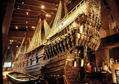 Vasa is a Swedish warship built 1626-1628. The ship foundered and sank after sailing less than a nautical mile (ca 2 km) into its maiden voyage on 10 August 1628. It fell into obscurity after most of its valuable bronze cannon were salvaged in the 17th century. After it was located again in the late 1950s in a busy shipping lane just outside the Stockholm harbor, it was salvaged with a largely intact hull in 1961 .... amazing!