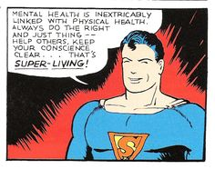 Rarely do men stress the importance of good mental health in one's well-being, but to be 'truly healthy' is just as much about brains as it is brawn. Listen to Supe's: build your body AND mind. #SuperLiving