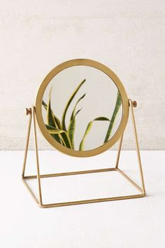 Brass-tone Vanity Mirror