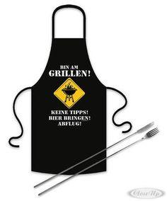 Grillset ´´Bin am Grillen´´ Schürze und Teleskop-Besteck Jetzt bestellen unter: https://moebel.ladendirekt.de/kueche-und-esszimmer/besteck-und-geschirr/besteck/?uid=4ef5584a-31a7-5f3e-92b0-74c2c56283a3&utm_source=pinterest&utm_medium=pin&utm_campaign=boards #geschirr #merch #kueche #ise #esszimmer #besteck Bild Quelle: www.closeup.de