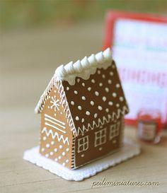 Dollhouse Elegant Gingerbread House - 1/12 Dollhouse Miniature Scale.