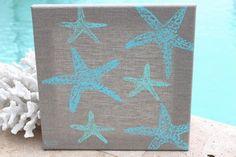 Sugar Starfish Beach Decor Artwork