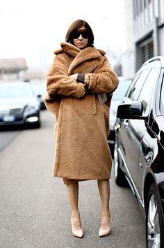 Winter coats camel blanket coat
