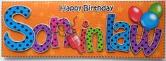Card Gallery - Large DL Birthday SON IN LAW Celebrations 3D decoupage