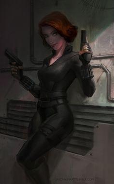 Black Widow by Jason Kim Art