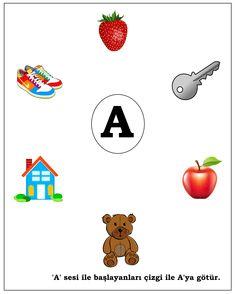 okul öncesi A sesi Nursery Worksheets, Learn Turkish, Turkish Language, Pre School, Kids Learning, Alphabet, Homeschool, Activities, Reading