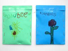 Seed csomagok teszik 1 téma kert közepén, óvoda ötlet, ingyen nyomtatható