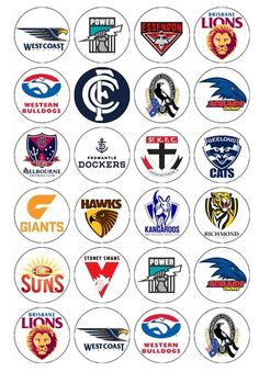 AFL NRL 24 X Cupcake Toppers Edible Images | eBay Card Making Inspiration, Making Ideas, Bottle Cap Images, Bottle Caps, Western Bulldogs, Rugby Training, Mothers Of Boys, Football Crafts, Australian Football