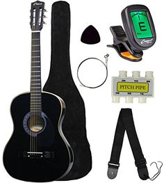 "Crescent MG38-BK 38"" Acoustic Guitar Starter Package, Black (Includes CrescentTM Digital E-Tuner)  Read the rest of this entry » http://onlineguitarlesson.biz/crescent-mg38-bk-38-acoustic-guitar-starter-package-black-includes-crescenttm-digital-e-tuner/"