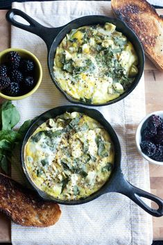 Artichoke Frittata with Leeks, Goat Cheese and Basil | Recipe #GlutenFree