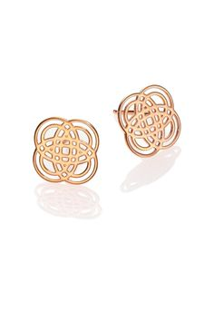 These Ginette NY earrings are made of 18 carat rose gold. The motif size is 9,5 mm. Mini Purity Studs by Ginette NY. Accessories - Jewelry - Earrings - Studs Canada