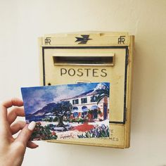 Still sending postcards  #FranceToUSA #roquebrune