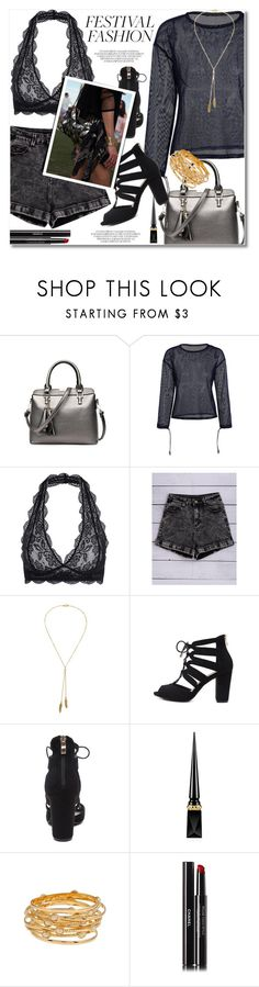 """Show Time: Best Festival Trend"" by svijetlana ❤ liked on Polyvore featuring Christian Louboutin, Chanel, festivalfashion and zaful"
