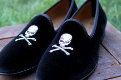 Fancy - Skull & Bones Slippers by Del Toro