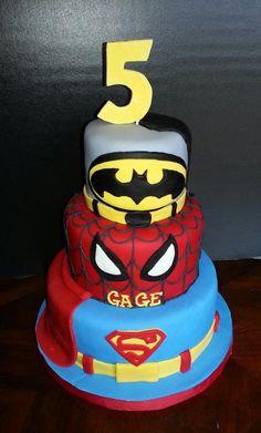 Superhero Birthday - Cake by Sophisticakes by Malissa Superhero Birthday Cake, Birthday Cake Girls, 3rd Birthday Parties, Birthday Ideas, Birthday Box, Bithday Cake, Happy Birthday Cake Images, Cakes For Boys, Celebration Cakes