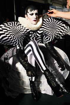 Le Pustra backstage at Berlin Alternative Fashion Week for Ivana Pilja. Photo by Nikola Sokolov.