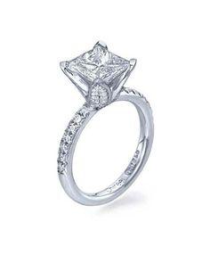 1.48ct H-VS2 Princess Cut Clarity Enhanced Diamond Rings in 14K White Gold