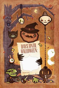 Halloween Countdown Print