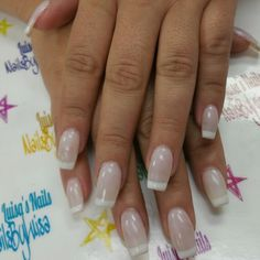 Acrylic french manicure