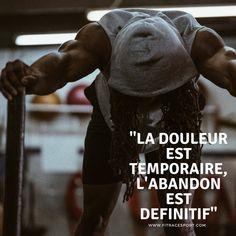 «la douleur est temporaire, l'abandon est définitif» #Sport #muscle #strongfit  #crossfit #effort #motivation #entrainement #training #fitness #remiseenforme #sante Darth Vader Head, Vader Star Wars, Effort, Abandon, Ju Jitsu, Muscle, Melt In Your Mouth, Under Pressure, Crossfit