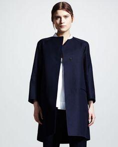 One-Button Gabardine Coat by Jil Sander at Bergdorf Goodman.